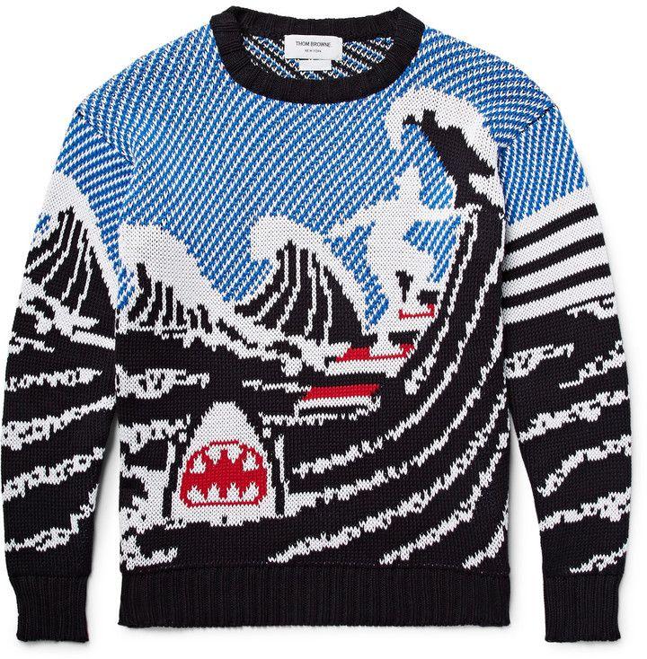 Thom Browne - Jacquard-Knit Cotton Sweater