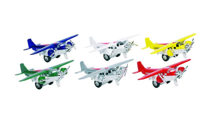 Oude sportvliegtuigjes *** Deze speelgoed sportvliegtuigjes zijn gemaakt van metaal en bestaan in diverse kleuren. De zijdeuren kunnen geopend worden en het vliegtuigje werkt met een pull-back systeem. Retro modellen die een lust zijn voor het oog. Leuk als speelgoed of zelfs als decoratie!
