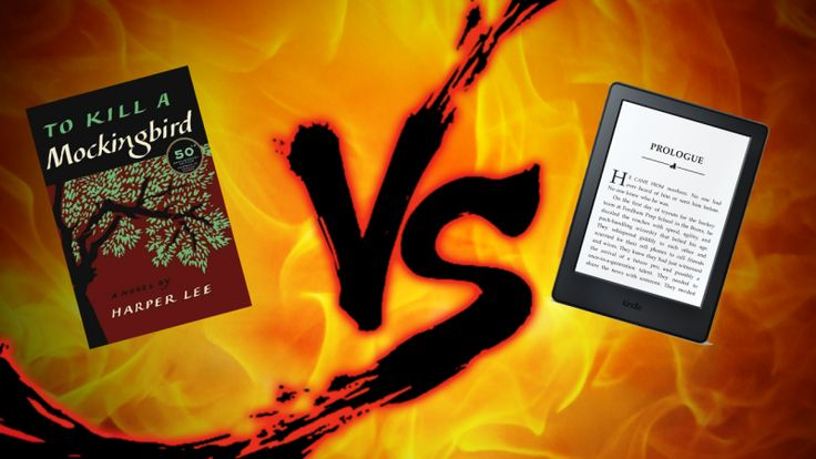 We make a paperback fight a Kindle, which will win?