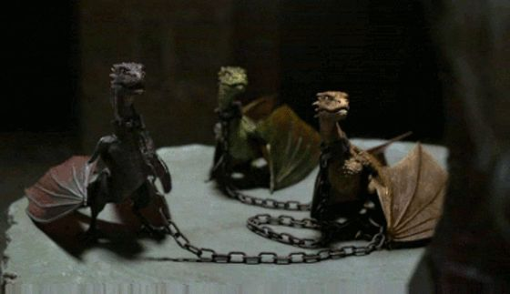 From left to right: What are the names of Khaleesi's three dragons?
