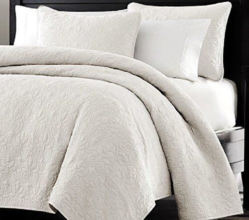Multiple Sizes - Oversized-3pc Quilted Coverlet Set- White -King - Exclusively by Blowout Bedding RN# 142035 Web Linens Inc http://www.amazon.com/dp/B00NFQU0RY/ref=cm_sw_r_pi_dp_LJlPub0JJKYSQ
