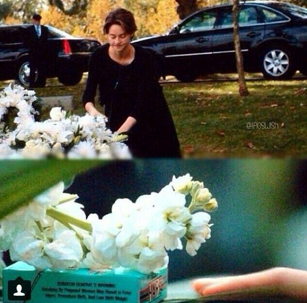 Fotky Hazel E Gus A Culpa: Hazel Leaving Augustus A Pack Of Cigarettes At His Grave