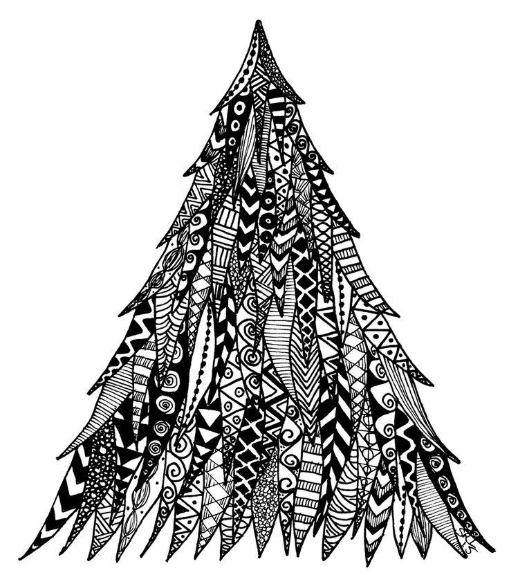 Christmas tree design by Sandy Rosenvinge Lundbye. Copyright 2015.