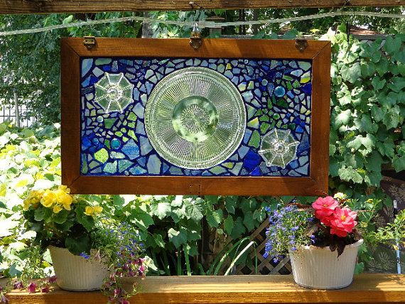 Repurposed Cabinet Door Stained Glass Mosaic And Vintage