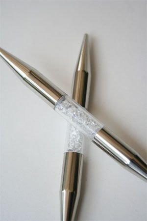 Want these! Swarovski crystal Addi knitting needles