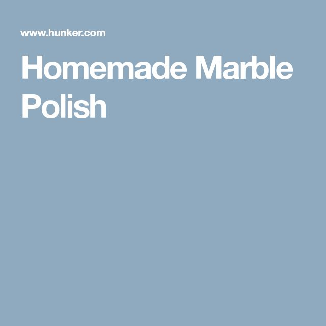Homemade Marble Polish