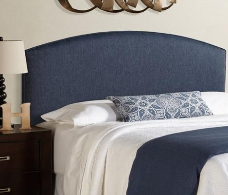 I love how simple and classy this blue and white bedroom set looks with its blue cloth head board. I've heard that having a head board on your bed helps you to be able to sleep better at night because it acts as a noise canceler in a way. I'll be sure to look for a bed set like this to put in our room when we remodel later this year.