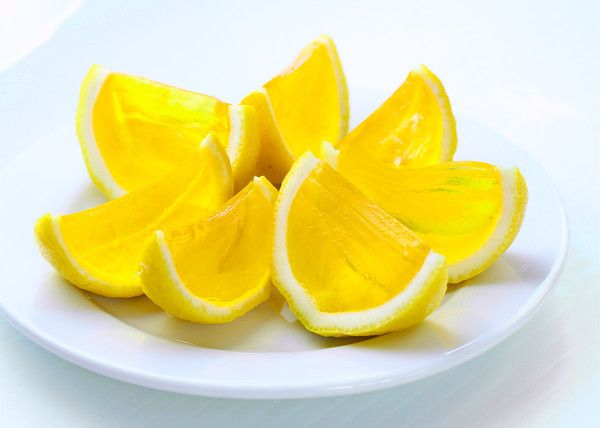 Lemon Drop Jell-O Shots Recipe Desserts, Beverages with Jell-O Gelatin, vodka, water, lemon
