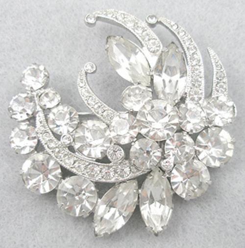 Eisenberg Ice Rhinestone Brooch - Garden Party Collection Vintage Jewelry