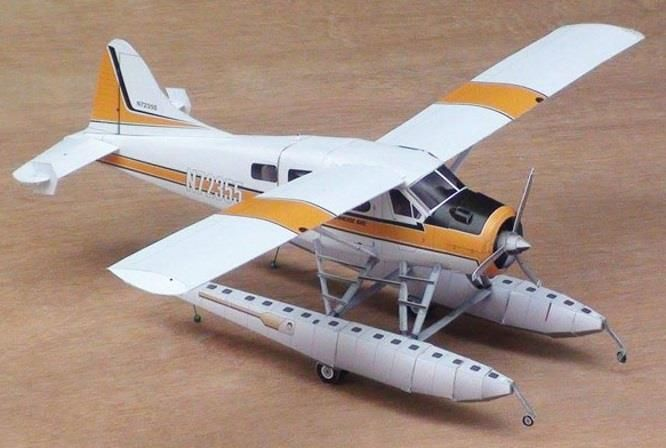 This is the DHC-2 Beaver Aircraft paper model in 1/32 scale , more