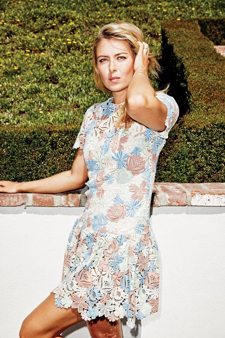 Maria Sharapova in Dolce & Gabbana dress