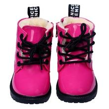 2016 high quality Leather Toddler Girls Boys Casual Flat  Ankle Boots  Snow Shoes botas invierno infantil Vee_Mall(China (Mainland))