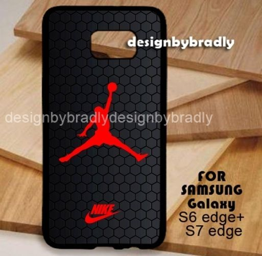 Best Air Jordan Hexagon Black Samsung Galaxy S3 S4 S5 S6 S7 S8 Edge Plus Case #UnbrandedGeneric