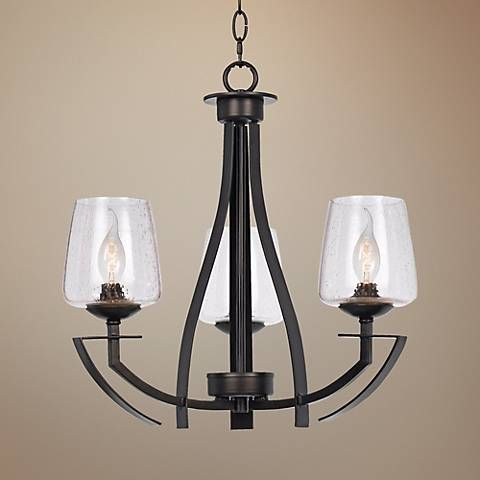 """Perry Collection 20"""" Wide Black Iron Chandelier"""