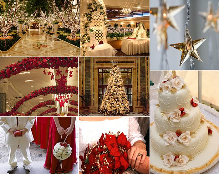 30 best christmas wedding hey the church is already decorated beautiful light and white touches for christmas wedding junglespirit Image collections