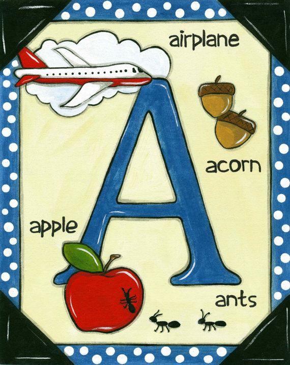 "Alphabet Art Childrens Educational Letter Flashcards 3""x4"""