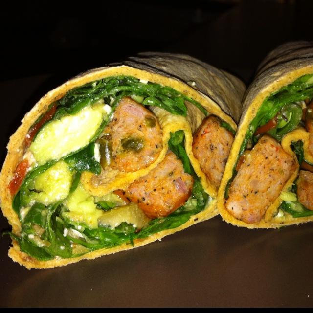 My sausage salad wrap :)