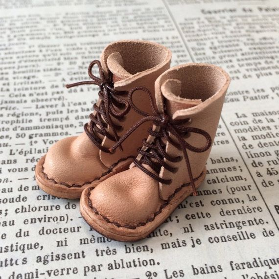 real leather: miniature  lace-up boots NATURAL     for by nero1025