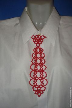 Галстуки, бабочки ручной работы. Ярмарка Мастеров - ручная работа. Купить Красный галстук. Handmade. Ярко-красный, галстук