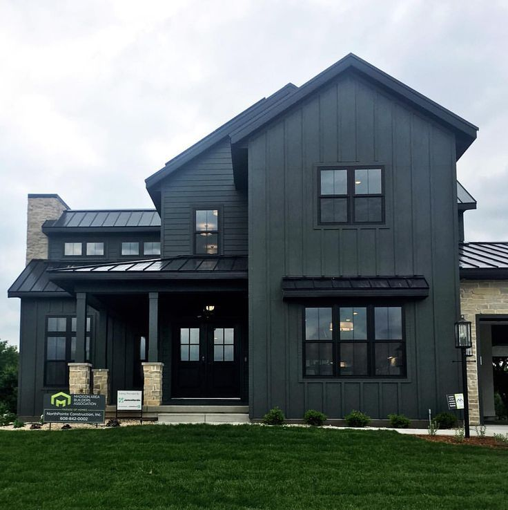 We Ve Been Dreaming About Dark Exterior Siding For Our Scandinavian Farmhouse Build It S Modern Farmhouse Exterior Black House Exterior Farmhouse Architecture
