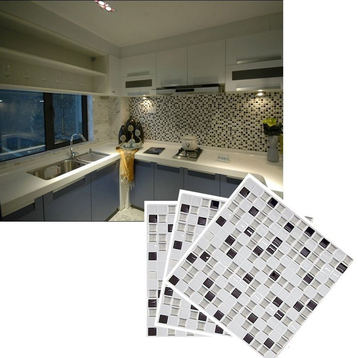 Amazon.de: FTSM 23x23 cm Adhesive Mosaic Vinyl Wall Tiles Wall Stickers Self-Adhesive Mural Art