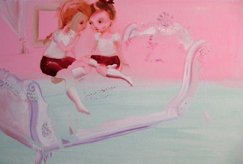 Girls talk, 80 cm x 120 cm, Katja Tukiainen 2009 (in private collection)