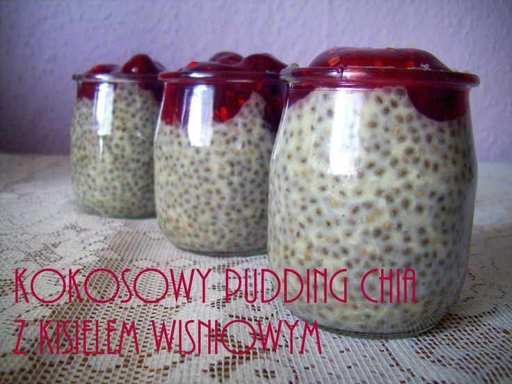 Kokosowy Pudding Chia z kisielem wiśniowym (w 5 minut) PRZEPIS