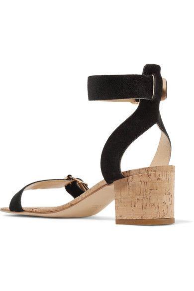ATP Atelier - Carmen Suede And Cork Sandals - Black - IT41
