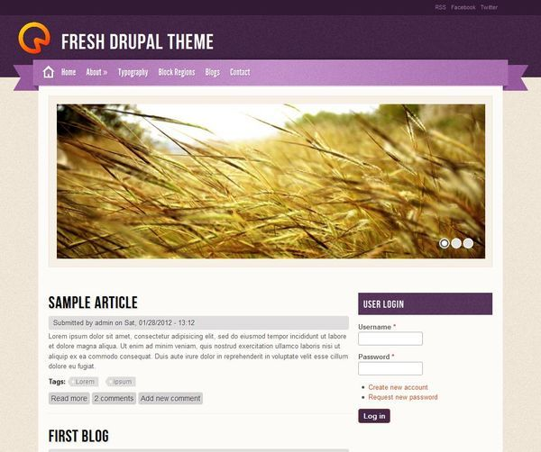 http://www.victoo.net/fresh-free-drupal-template-457.html