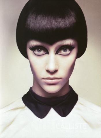 Italian Vogue.  Not sure who did the make-up.  Photography by Michelangelo di Battista.  Hair by Serge Normant.