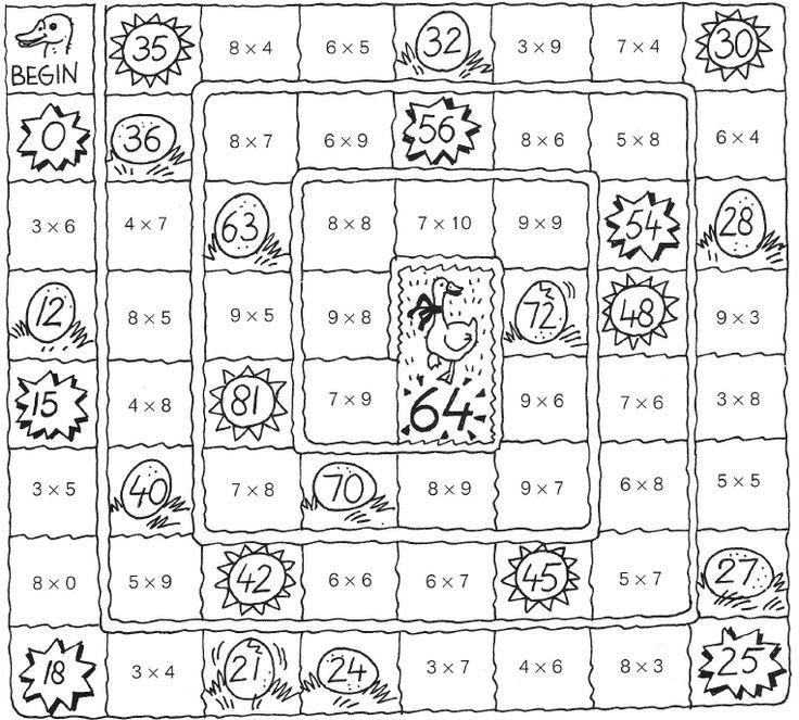 Ganzenbord - maaltafels oefenen