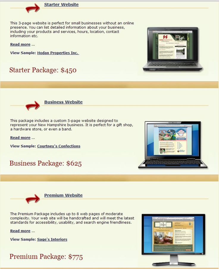 http://www.crimsondesigns.com/web-design-packages.php