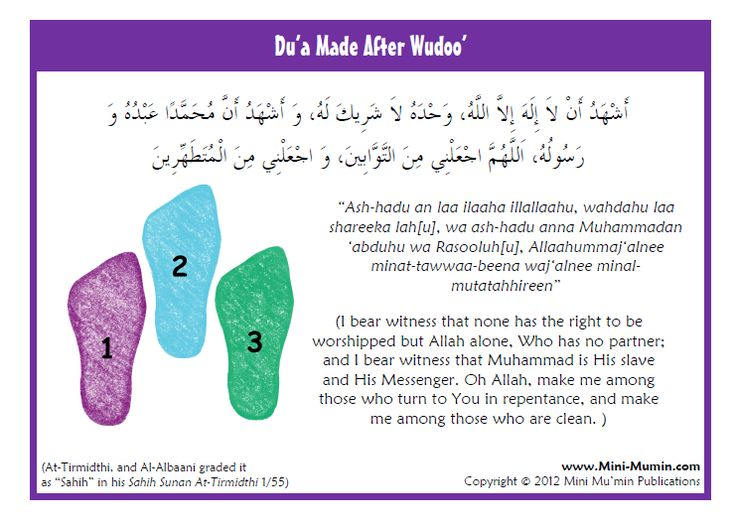 Du'a after Wudu