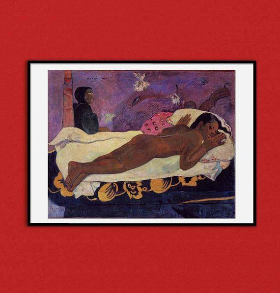 Paul Gauguin Manao Tupapau Painting Tahiti Naked Nude Woman