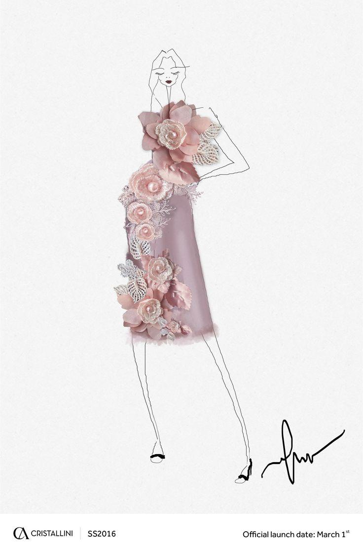 CRISTALLINI #sketch #fashion #cocktail