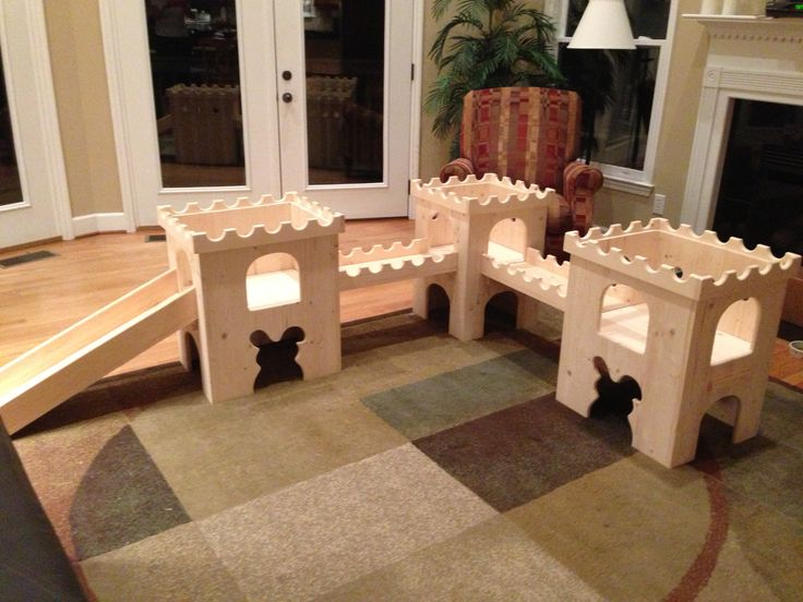Large rabbit playground, from The Blissful Bunny!
