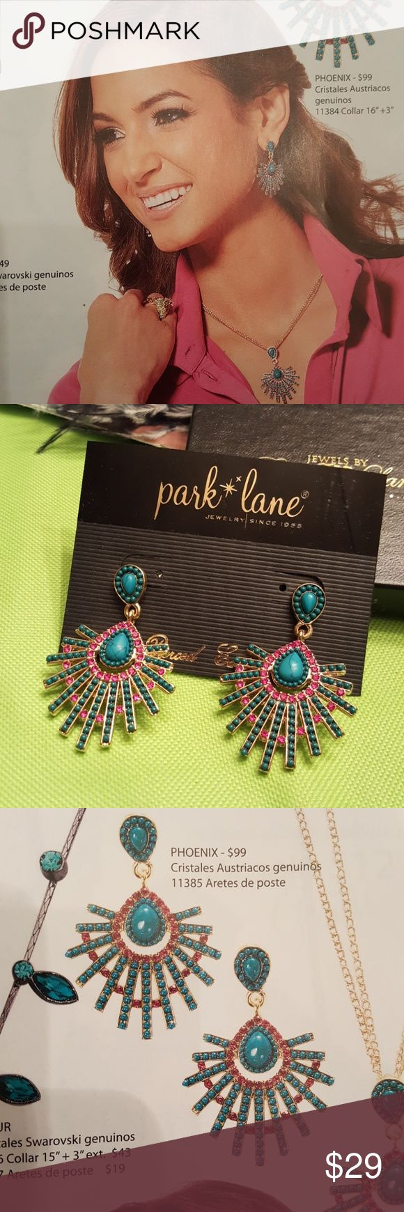 Park Lane Phoenix earring. Park Lane Phoenix Earring. Genuine Austrian crystals. NWT. Park Lane Jewelry Earrings