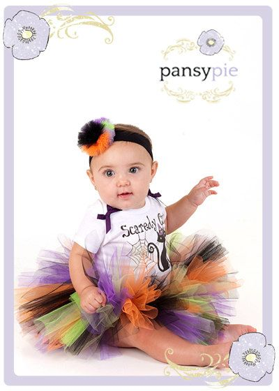 Halloween Tutu Costume Infant Halloween Outfit Newborn Baby Halloween Costume. $29.99, via Etsy.
