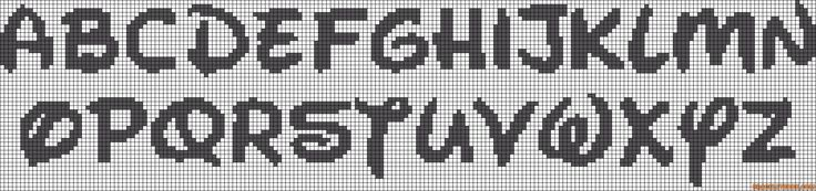 Disney alphabet perler bead pattern