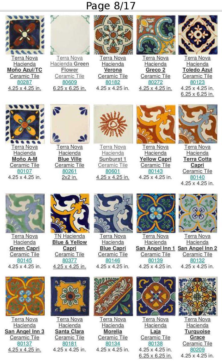 Catálogo Terra Nova Hacienda de Azulejos Mexicanos de Talavera | Cobalto Tiles | Wholesale and Retail Tile Sales - Cabo San Lucas, Los Cabos, Mexico