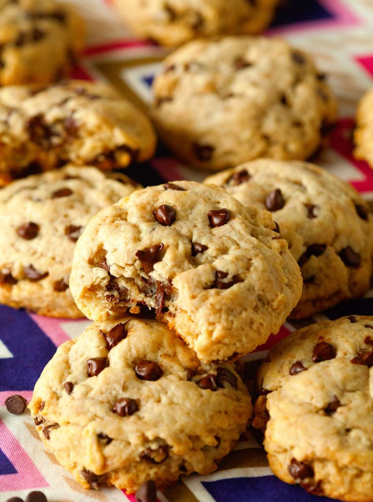 Unbelievably Healthy Chocolate Chip Cookies via Deliciously Yum!