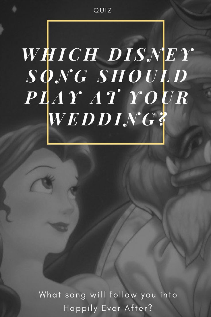 Wedding Songs Are One Of The Most Important Aspects Ones Special Day Finding Perfect Song Can Be A Bit Tricky But Disney Has Made Little Easier