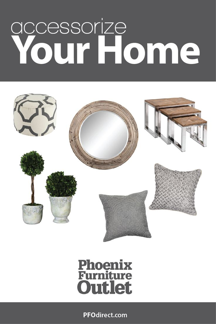 Find all the home accessories you need at Phoenix Furniture Outlet. So many different choices online and in store now. #homestyle #rustic #trendy #homedecor #decorinspo #pfo #arizonahome #arizona