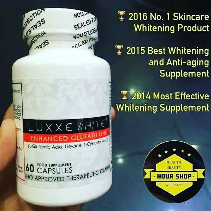 DO YOU WANT TO ACHIEVE YOUR PINKISH GLOW SKIN? LET LUXXE WHITE(Enhance Glutathione) HELP YOU! 3 WEEKS TO SEE THE EFFECT OF THE PRODUCT. FYI: Luxxe White is awarded as most effetive whitening supplement last 2014 and 2015. -No age limit FYI: Cristine Reyes,Fabio Ide,Pia Wurtzbach,Rico Barrera,Jake Cuenca,Billy Crawford and other wellknown celebrities already tried this product.  WE SHIP INTERNATIONAL? YES! FOR FASTER TRANSACTION -0917-2788-251  Happy Online Shopping! :)