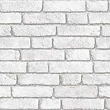 Colours Grey Brick Effect Wallpaper | Departments | DIY at B&Q