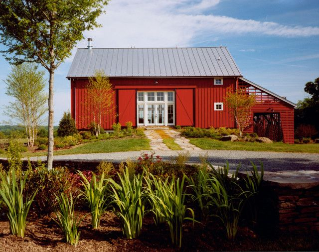 117 best images about bold colored buildings on pinterest for Red barn houses