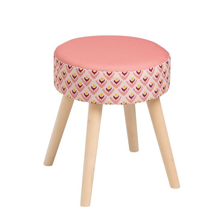 Tabouret nordique 17€99 #chair #pink #tabouret #ethnic #boho #myhome #tatihome #tatideco #deco #madeco #madecoamoi #homedecor #decoration #decorationideas #homesweethome #cocooning #inspirationdeco #newcollection #tati