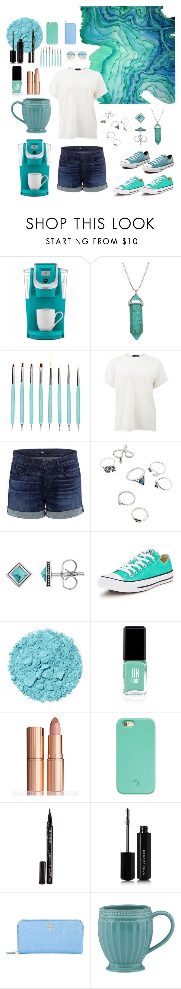 """""""Blues and Greens Bruh"""" by howdyingboo ❤ liked on Polyvore featuring Keurig, Lord & Taylor, Converse, The Row, 3x1, Thomas Sabo, Jin Soon, Charlotte Tilbury, Forever 21 and Smith & Cult"""