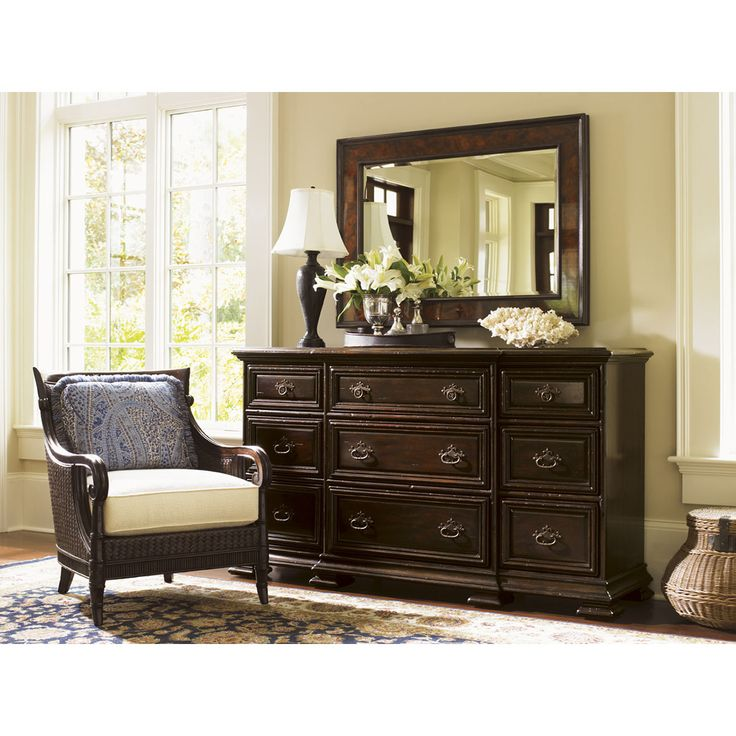 Island Traditions Bexley Dresser And Somerton Mirror Set By Tommy Bahama  Home At Baeru0027s Furniture