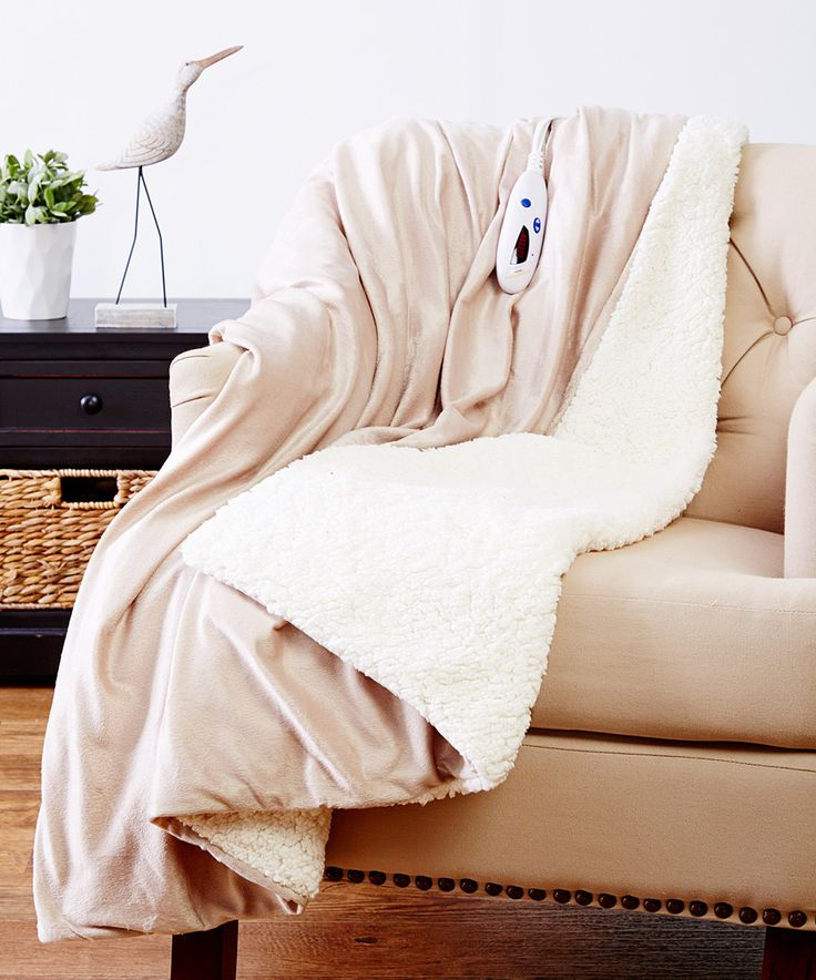 Another great find on #zulily! Taupe Micro Mink & Sherpa Electric Throw Blanket by Biddeford Blankets #zulilyfinds
